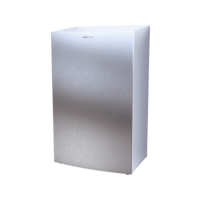 CWS Stainless Steel Paper Bin 40l